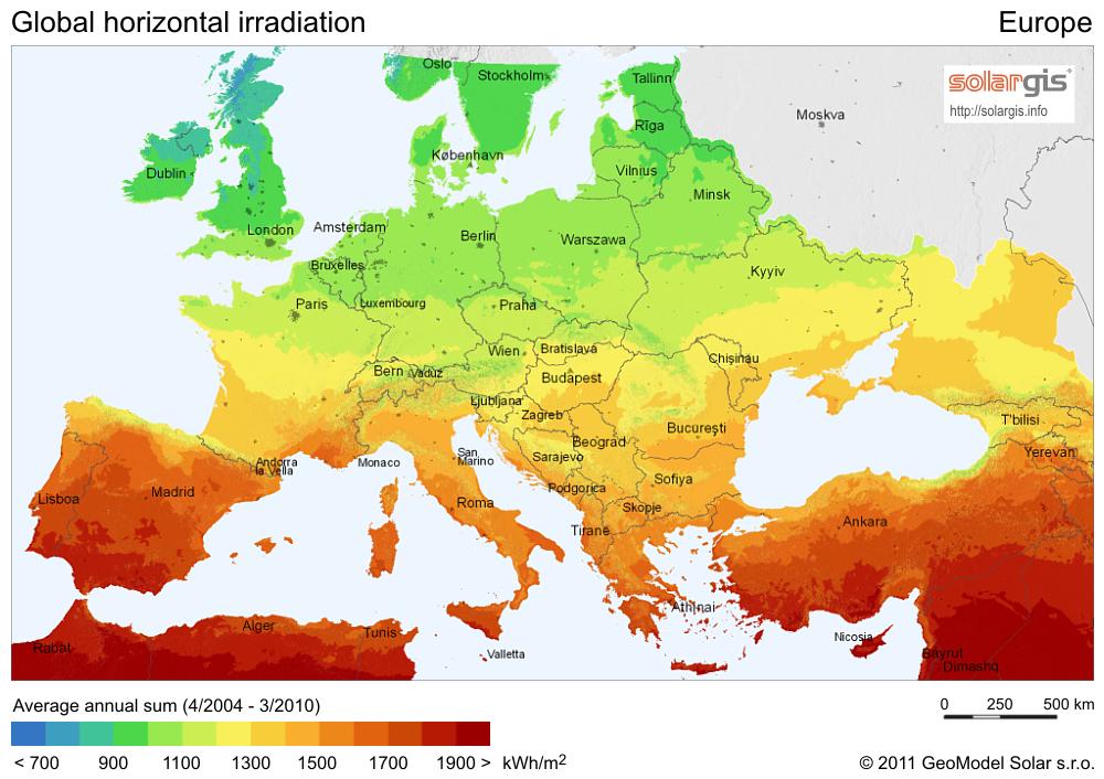 european solar map ile ilgili görsel sonucu