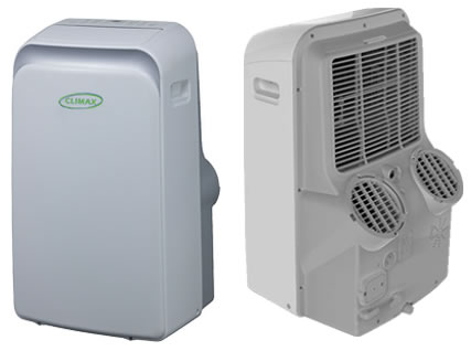 image of dual hose dc inverter portable air conditioner