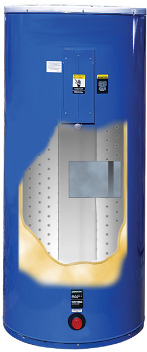 Picture of heat recovery tank with integrated heat recvery circuit