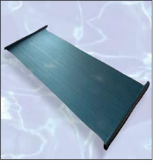 image of pool solar panel for solar swimming pool heating