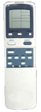 image of air conditioner water heater remote control