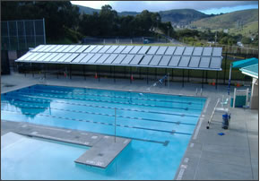Picture Of Solar Heated Commercial Pool For Hotel Or Community Center Etc.